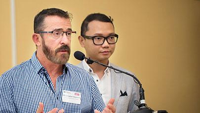 Queensland Positive People presenting